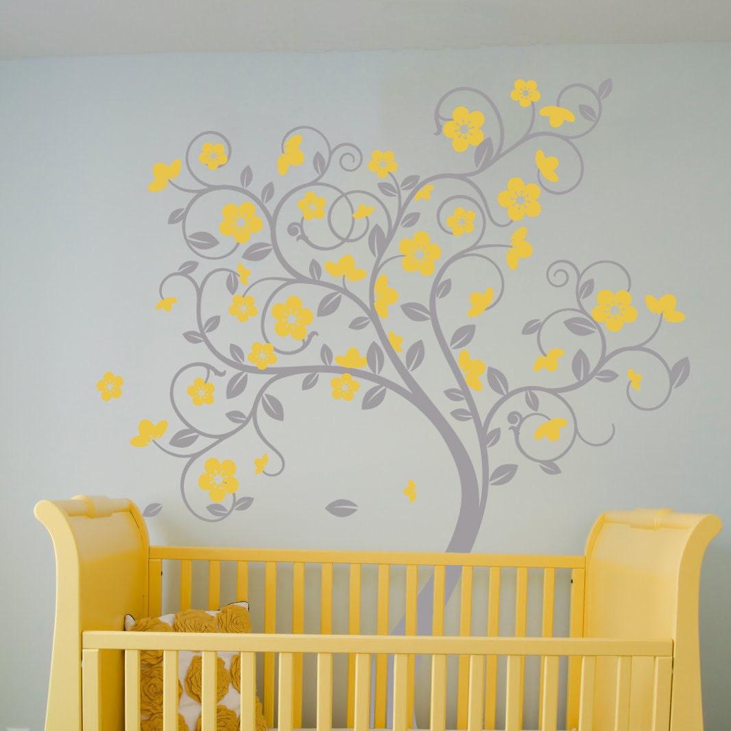 swirly tree vinyl wall sticker life size beautiful bespoke