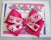 Owls and Hearts Boutique Infant Bow Headband 0 to 3 & 6 to 12 months