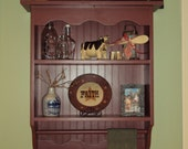 Country Primitive Wall Shelf/Cabinet- finished