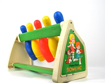 Vintage Fisher Price Bowling Game 1970s