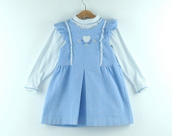Vintage Dress in Blue Corduroy by Carters  Size 6 years
