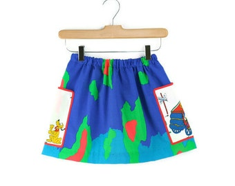 Vintage Skirt in Big Bold Print  6T to 10T