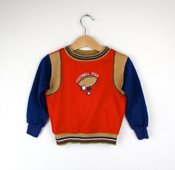 Vintage Sweatshirt by Garanimals 3T Football Theme 1970s