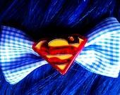 Superman Bow Man of Steel Hair Bow