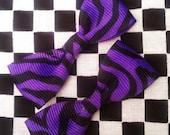 Sale 25% Off Purple Zebra Mini Bows