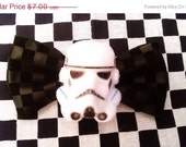 Sale 25% Off Star Wars Bow Storm Trooper Bow Faux Leather Small ON SALE NOW
