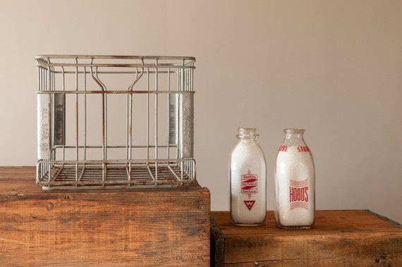 Metal Milk Bottle Crate