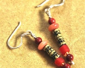 Paper Bead Jewelry: Chinese Medical Text Earrings
