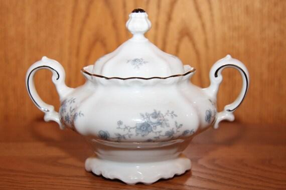 Johann Haviland Blue Garland China Sugar Bowl