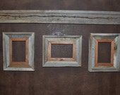 Decorative Barnwood Picture Frame Set