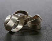 Sterling Silver Abstract Wraped  Metalwork Handmade Ring