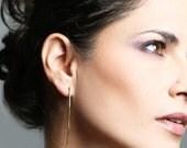 Free shipping, threader earrings, ear jacket, wire jewelry, trendy gifts