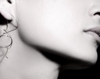 ON SALE, Free shipping,threader earrings,chain earrings,long earring,silver dangle earrings, handmade jewelry