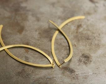 ON SALE, Free shipping, Ear jackets, drop earrings, handmade jewelry, long earrings, gold earrings, unique gifts