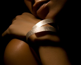 Spiral bracelet - Silver bracelet - Arm cuff - Handcrafted jewelry - Multi strand bracelet - gioiellibyliat