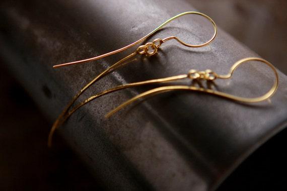 ON SALE, Free shipping, Gold earrings, threader earrings, ear jacket earrings, handmade jewelry, unique jewelry