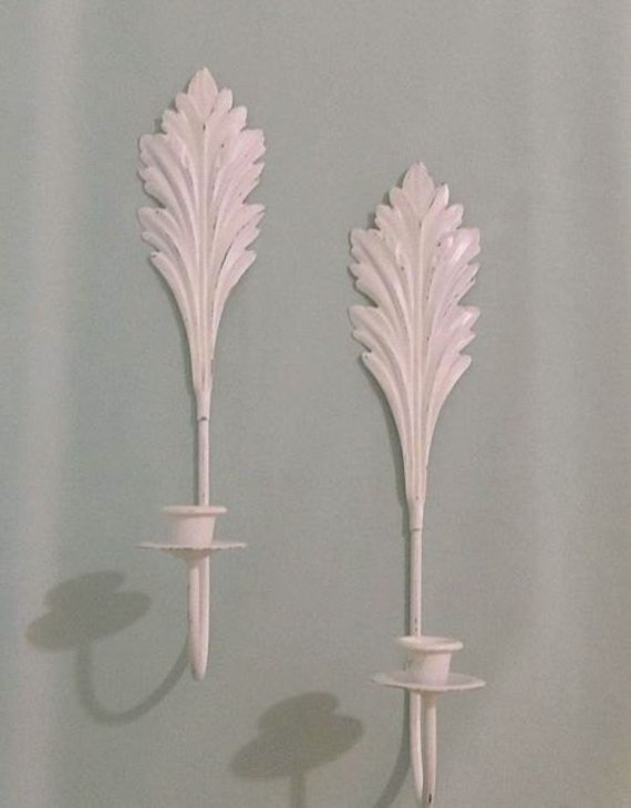 Wall Sconces Shabby Chic : Vintage Shabby Chic Wall Sconce Pair by HydrangeaHillVintage