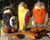 Custom Needle Felted Viking Warrior Nisse/Tomte/Tomten Statue Figure Figurine Doll Ornament (Male)