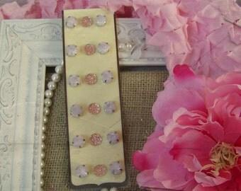 Scrapbook Faux Gemstone Stickers, Sticker Set, Pink Sticker Set, Paper Craft Gemstone Stickers, Sticker Assortment, Sticker Collection, Chic