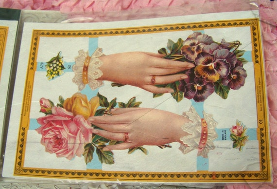 Decoupage Large Victorian Assortment of Embossed Die Cuts s for Vintage-Inspired Projects