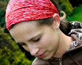 Red Headband stretchy Head band   head covering red head bands Hair Coverings