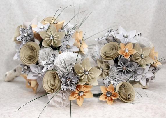 Paper Wedding Bouquet Set of 8 arrangements