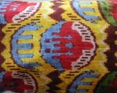 IKAT  PILLOW COVER  lumber silk cotton blend asian colorful long large