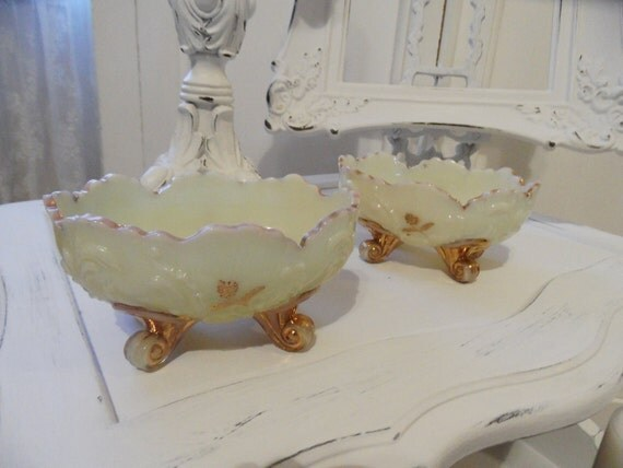 Rare Collectible Antique Vintage 1890's Louis XV Berry Bowls FREE SHIPPING