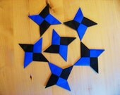 Origami Ninja Stars - Set of 6 Ninja Throwing Stars for party favors, table favors, or a fun gift