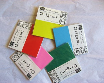 Origami Paper - 55 sheets of 10x10cm origami paper in assorted solids, small origami paper