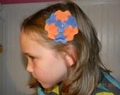 Felt Flower Barrette Clip--Customize Your Colors--Adoption Fundraiser
