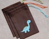 Dinosaur Favor Bags : Set of 6 Dinosaur Party Goodie Bags