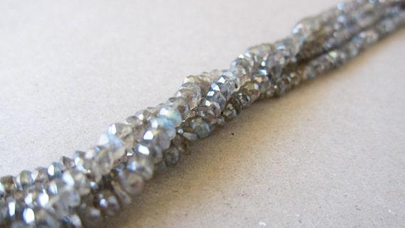 Labradorite faceted rondelles - 4mm (20 pieces)