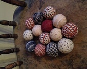 RESERVED - 8 Primitive Rag Balls - Patriotic - 4th of July - Flag Day - Independence Day