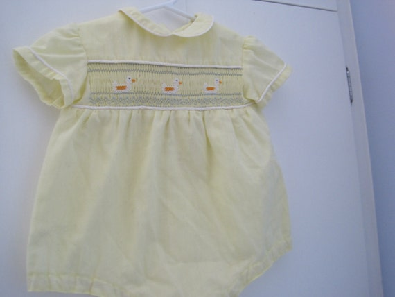 Yellow one piece infant shorts outfit