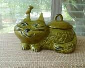 Vintage CAT cookie jar Very Unique