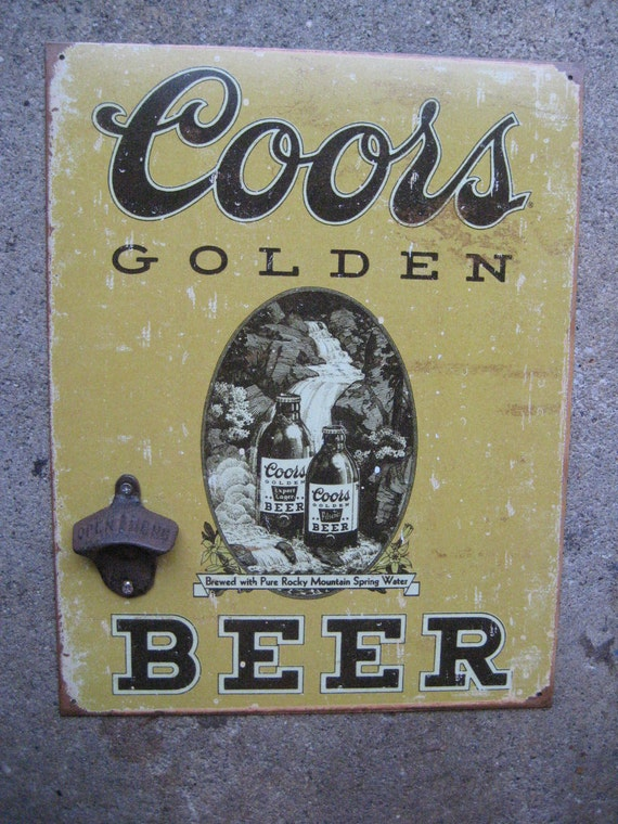 Coors Vintage Wall-Mounted Tin Sign with Bottle Opener