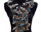 SALE BALLERINA SCARF Brown, Blue, Camel 20683 Made by Order
