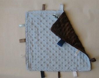 Blue & Brown Taggie Blanket