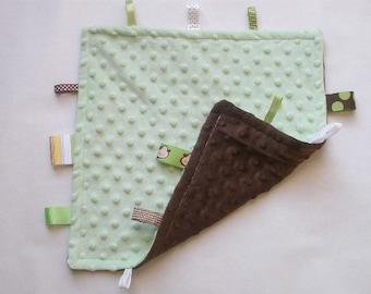 Green & Brown Taggie Blanket