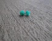 Mint rose Earring - 10 mm