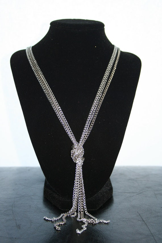 Long Multi-Chain Knot Necklace and Bracelet