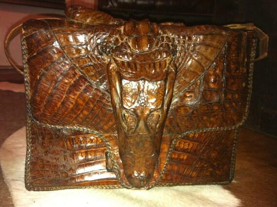 Purse in Vintage Alligator Skin
