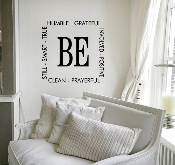 Items Similar To Vinyl Wall Art Quote Be Humble