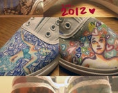 Customized Converse, Vans, or Toms