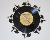 Scooter Recycled Record Clock