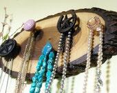 Jewelry Display, Jewelry Hanger, Country Chic, Rustic Jewelry Holder, Tree Wood Decor, Southwestern, Cowgirl, black walnut tree
