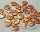 Copper Polymer Clay Rune Set