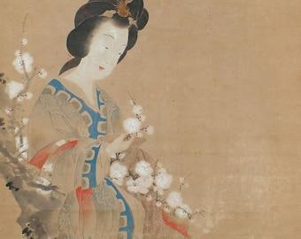 Japanese Art Painting Bijinga Yang Guifei by Matsuki Fuko - 110519