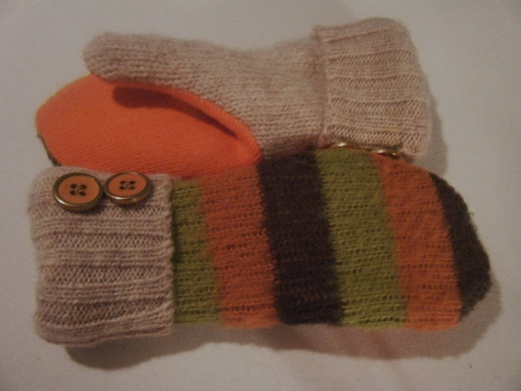 Childrens Wool Mittens MultiColor